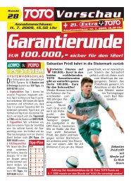 Garantierunde EUR 100.000,- sicher für den 12er! - Win2day