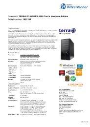 Datenblatt: TERRA PC-GAMER 6500 Tom's Hardware Edition ...