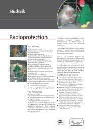 Radioprotection - Investor Relations - Studsvik