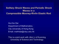 Solitary Shock Waves and Periodic Shock Waves in a Compressible ...