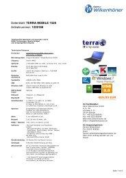 Datenblatt: TERRA MOBILE 1528 Artikelnummer: 1220166