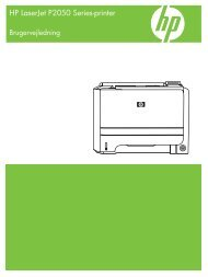 HP LaserJet P2050 Series Printer User Guide - DAWW