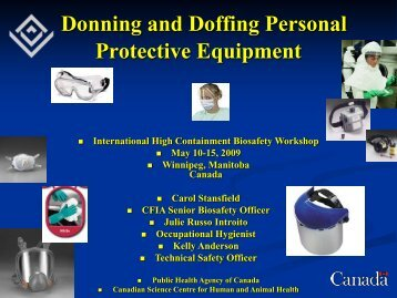 Donning and Doffing Personal Protective Equipment
