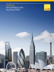 Savills plc Annual Report and Accounts 2009 - Investor relations