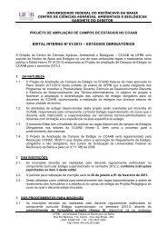 edital interno ccaab 01 2013 - estágio obrigatório 2012.2 - UFRB