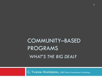 community–based programs - Texas Juvenile Justice Department