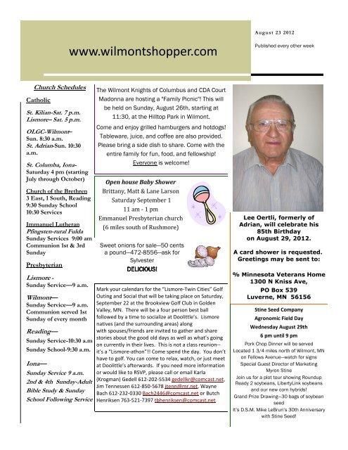 August 23 2012 - Wilmont Shopper