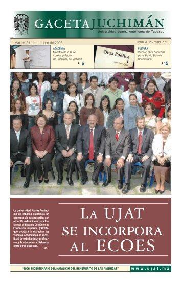 al ecoes - Publicaciones - Universidad Juárez Autónoma de Tabasco