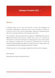 Catalogue Formation 2011 - Serena Software