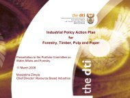 Industrial Competitiveness briefing - Department of Trade and Industry