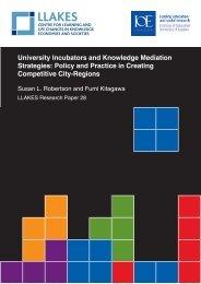 University Incubators and Knowledge Mediation Strategies ... - llakes