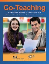 Guidelines for Co-Teaching in Texas - Region 17