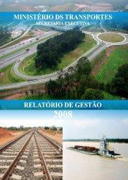 Relatório Gestão - Transportes.gov.br - Ministério dos Transportes
