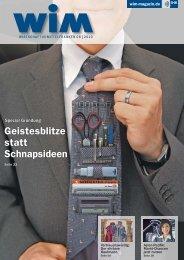 Geistesblitze statt Schnapsideen - WIM-Magazin
