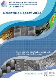 Scientific Report 2012 - IMT