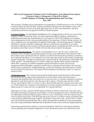 Mid-Term Programmatic Evaluation of the USAID/Southern Africa ...