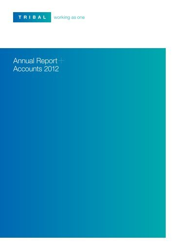 Annual Report Accounts 2012 - Tribal