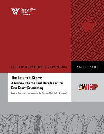 The Interkit Story: - Woodrow Wilson International Center for Scholars
