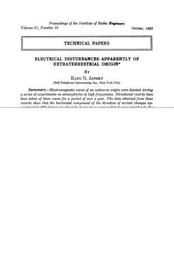 ELECTRICAL DISTURBANCES APPARENTLYOF ... - Soft.belastro.net