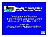 Dried Blood Spot Materials - Centers for Disease Control and ...