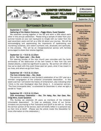 September 2011 - Quimper Unitarian Universalist Fellowship