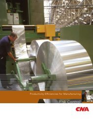 Productivity Efficiencies for Manufacturing - CNA