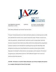 2011 Monty Alexander Jazz Festival Tops the Charts - Chesapeake ...