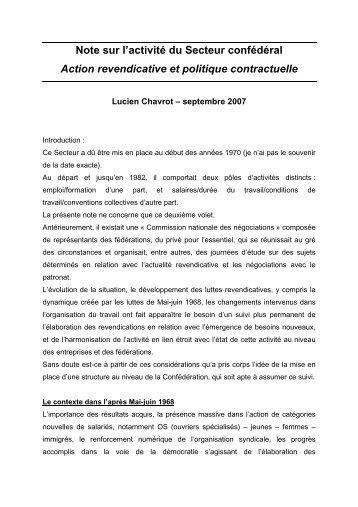 Lucien Chavrot, Syndicaliste - Institut d'Histoire Sociale CGT