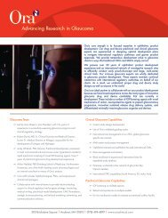 Download our Glaucoma Department Fact Sheet (PDF) - Ora