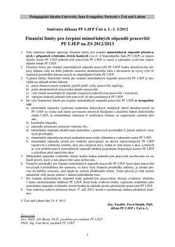 Směrnice č. 3/2012 - Pf UJEP