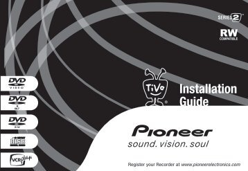 Pioneer DVD Recorder Installation Guide - TiVo
