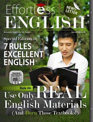 Rule #6 - Effortless English
