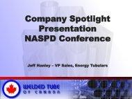 Member Spotlight, Jeff Hanley, Welded Tube of Canada - NASPD