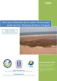 Vers une estimation de la valeur économique totale du Parc ...