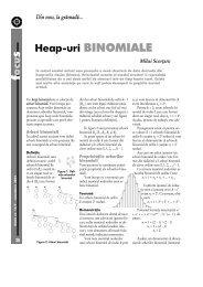 ocu Heap-uri BINOMIALE - GInfo