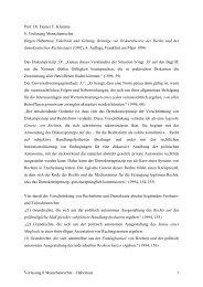 Prof. Dr. Heiner F. Klemme 8. Vorlesung Menschenrechte Jürgen ...
