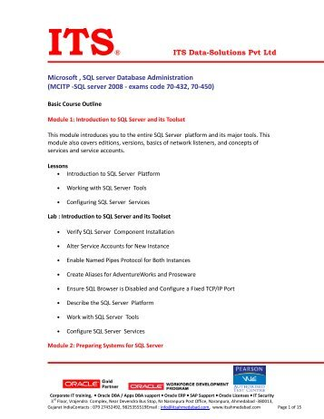 see attached pdf. - ITS Data-Solutions Pvt. Ltd.