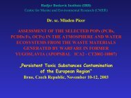 Dr. sc. Mladen Picer ASSESSMENT OF THE SELECTED POPs ...