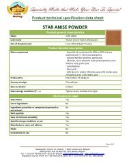 STAR ANISE POWDER - Castle Malting