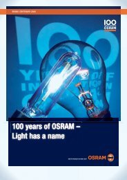 100 years of OSRAM - Siemens