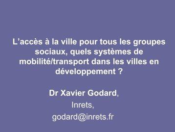 L'accès à la ville pour tous les groupes sociaux, quels ... - Iddri