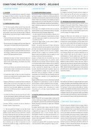 Téléchargez nos conditions de vente Belgique - Voyageurs du Monde
