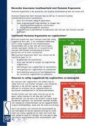 Bevorder duurzame inzetbaarheid met Humane Ergonomie - Step
