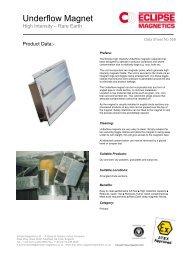 Underflow Magnet datasheet pdf - Eclipse Magnetics