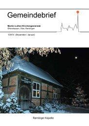 Gemeindebrief Nr. 1/2014 - Martin-Luther-Kirchengemeinde ...