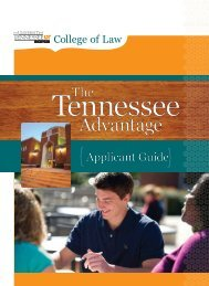Advantage - College of Law - The University of Tennessee, Knoxville