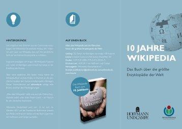 10 JAHRE WIKIPEDIA - Wikimedia Deutschland