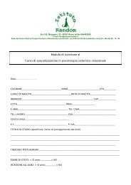 Modulo di iscrizione al Corso di specializzazione ... - Istituto Random