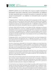 DECRETO 30/2013, de 12 de marzo - Diario Oficial de Extremadura