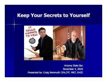Keep Your Secrets to Yourself - Expert Insights, Computer Forensics